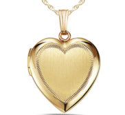 14K Gold Filled Yellow Heart Photo Locket