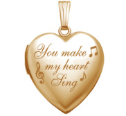 Yellow Gold  You Make My Heart Sing  Heart Locket