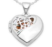 Sterling Silver Pierced Heart Photo Locket