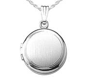 Sterling Silver Round Photo Locket