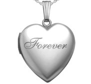 Sterling Silver Forever Heart Photo Locket