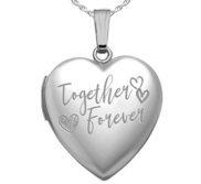 Sterling Silver   Together Forever   Heart Photo Locket