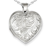 Sterling Silver Heart Photo Locket