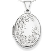 Sterling Silver Oval Photo Locket