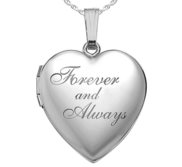 Sterling Silver Forever   Always Heart Photo Locket