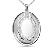Sterling Silver Large Oval Photo Locket