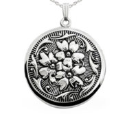 Sterling Silver Antique Round Photo Locket