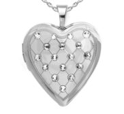 Sterling Silver Swarovski Crystal Heart Photo Locket