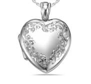 Sterling Silver Premium Weight Heart Photo Locket