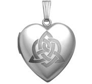 Sterling Silver   Sister s Love   Celtic Heart Locket