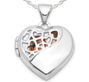 Sterling Silver Pierced Oval Photo Locket