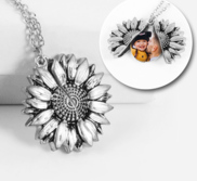Exclusive Sunflower Photo Locket   Chain