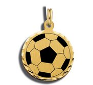 Soccer Charm Black   White