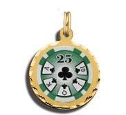 25 Poker Chip Charm