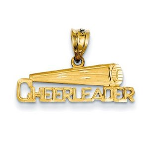 Cheerleader Megaphone Cut Out Charm or  Pendant