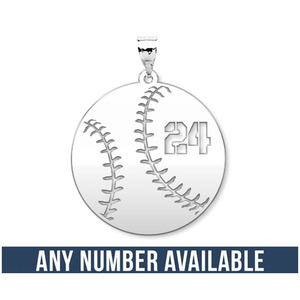 Customized Round Baseball Cut Out Number Disc