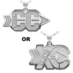 Personalized Cross Country Pendant with Name