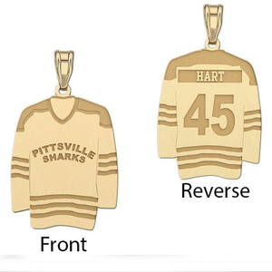 Hockey Jersey Pendant w  Name   Number