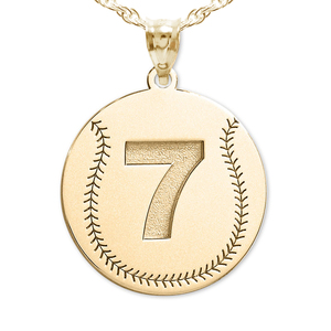 Custom Baseball Pendant w   Number