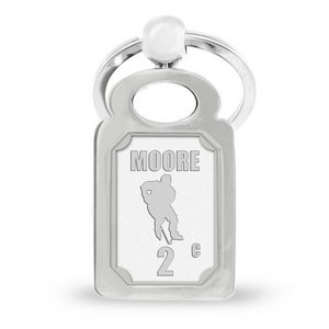 Personalized Stainless Steel Hockey Keychain