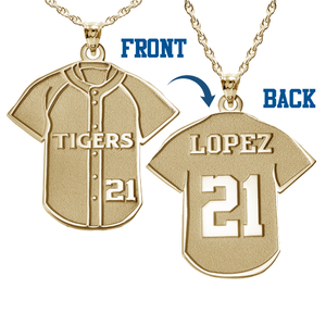 Baseball Jersey Charm or  Pendant w  Name   Number