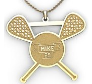 Personalized Lacrosse Pendant with Name   Number