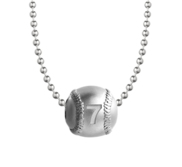 Personalized Baseball Necklace w  Chain Included