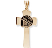Customized Cheerleading Cross Pendant