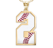 Sports jewelry sports charms jewelry and personalized sports baseball color enameled single number pendant or charm aloadofball Gallery