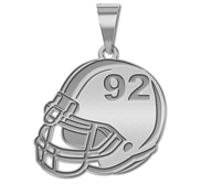 Custom Football  Helmet Pendant w   Number