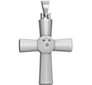 Sterling Silver High Polished Bowling Cross w  Number