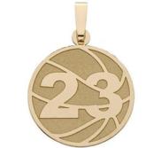 Custom Basketball Charm or  Pendant w  Number