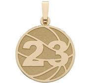 Custom Basketball Charm or  Pendant w  Number