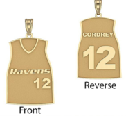 Softball Jersey Charm or  Pendant w  Name   Number