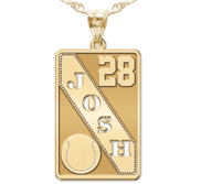 Personalized Baseball Pendant w  Cut out Name   Number
