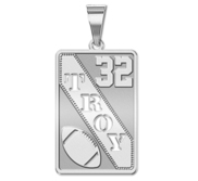 Personalized Football Pendant w  Cut out Name   Number