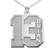 Personalized Number Pendant with Name and 2 Digits