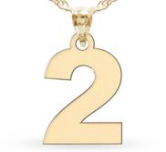 Single Digit High Polished Number Charm or  Pendant