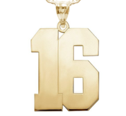 High Polished Number Pendant with 2 Digits