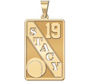 Personalized Softball Pendant w  Cut out Name   Number
