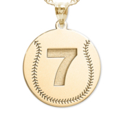 Baseball jewelry baseball charms baseball necklaces custom baseball pendant w number aloadofball Gallery