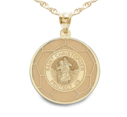 Exclusive Saint Christopher Soccer Medal
