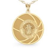 Exclusive Saint Christopher Basketball Medal