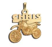 Custom Motorcross Bike Charm or Pendant w  Name   Number