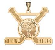 Saint sebastian medals pictures on gold exclusive saint sebastian hockey pendant aloadofball Images