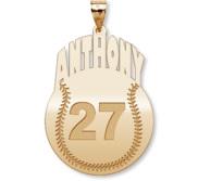 Custom Baseball Charm or  Pendant w  Name   Number