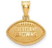 LogoArt Cleveland Browns Football Pendant