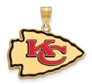 Kansas City Chiefs Large Enamel Pendant