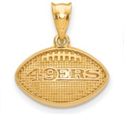 LogoArt San Francisco 49ers Football Pendant
