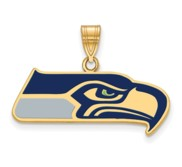Seattle Seahawks Large Enamel Pendant